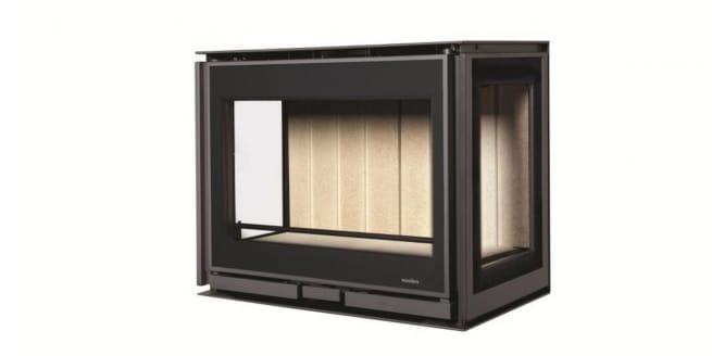 Insert à bois Wanders modèle Square 60 3 faces vitrées