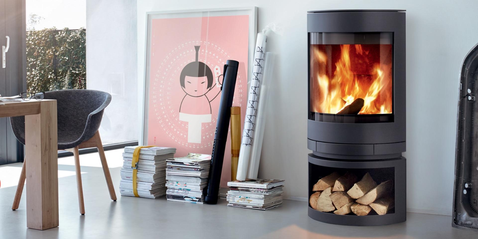 po le a bois skantherm emotion s flammes du monde. Black Bedroom Furniture Sets. Home Design Ideas
