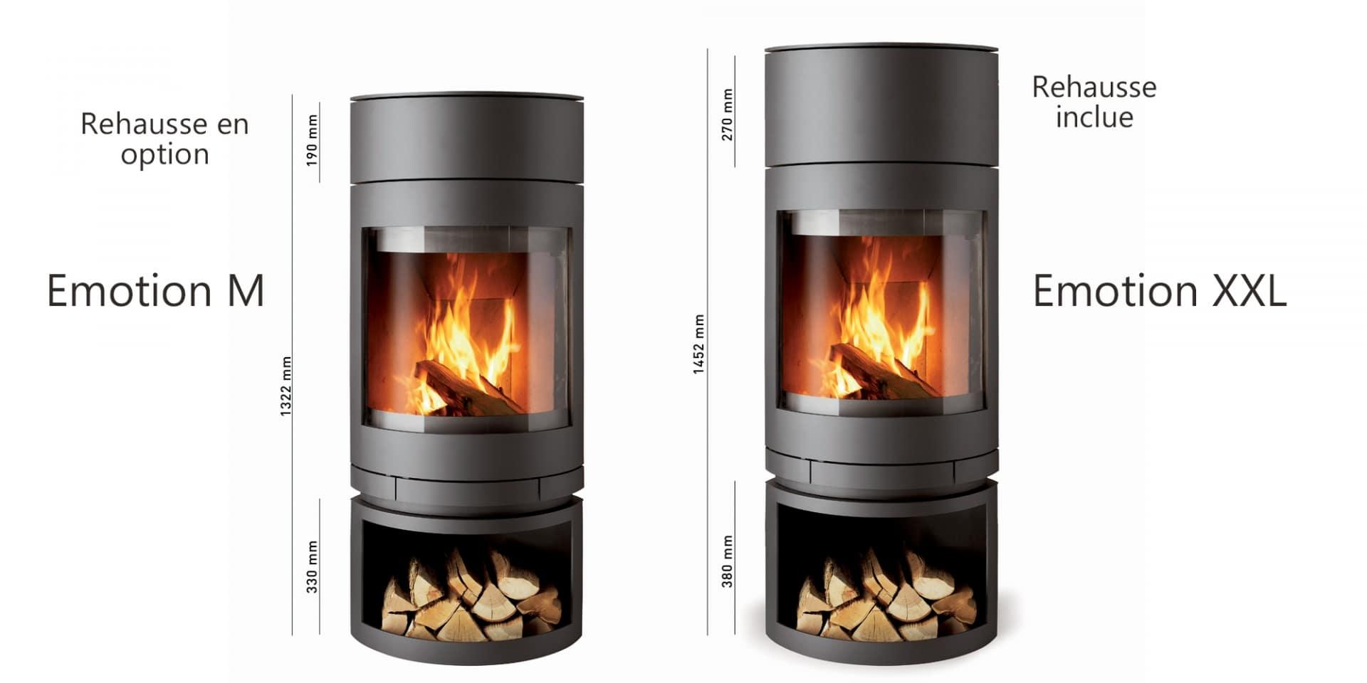 po le bois skantherm emotion xxl flammes du monde. Black Bedroom Furniture Sets. Home Design Ideas