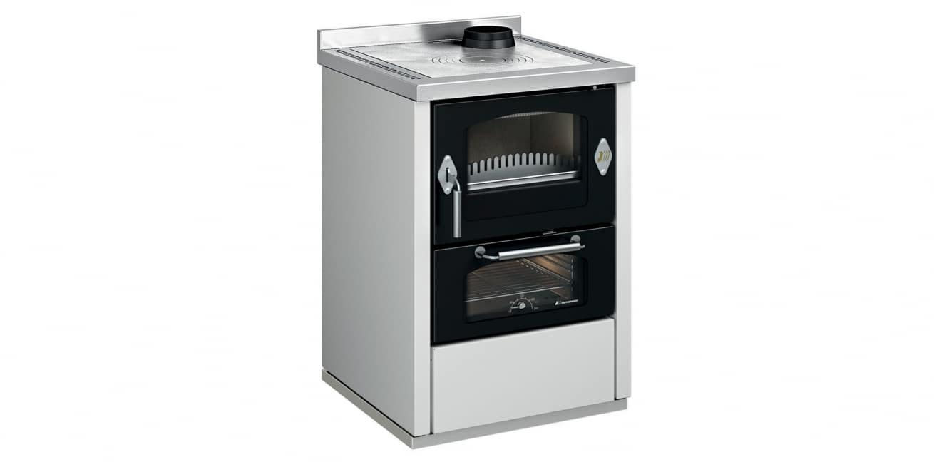 Cuisinière à bois DeManincor modèle D6 blanc