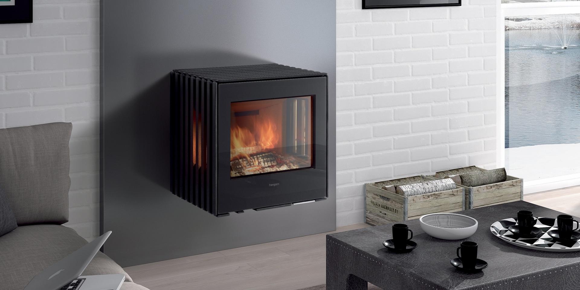 po le bois hergom glance m mural flammes du monde. Black Bedroom Furniture Sets. Home Design Ideas